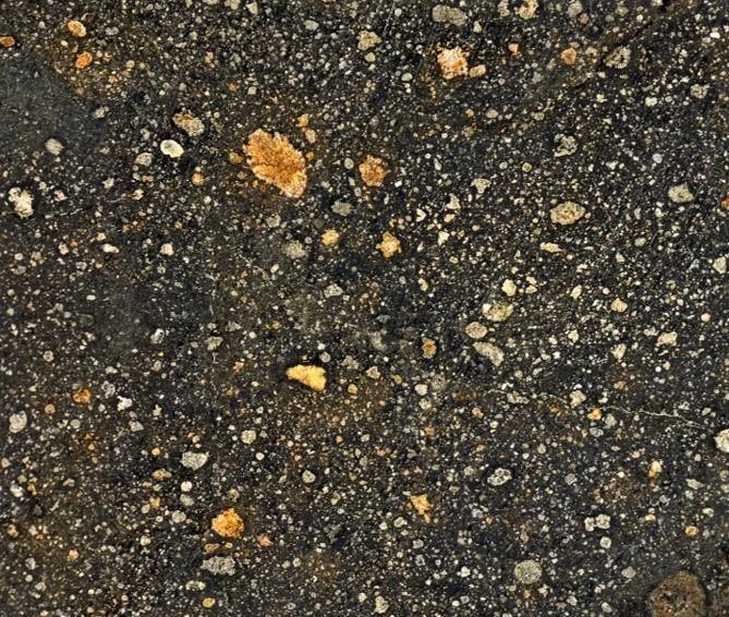 Zoom sur les minéraux d'une météorite nommée Murchison