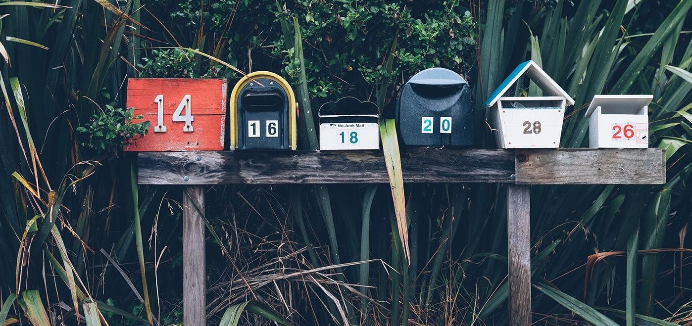 Boites à lettres pour s'inscrire à la newsletter du Fonds de Dotation Roullier
