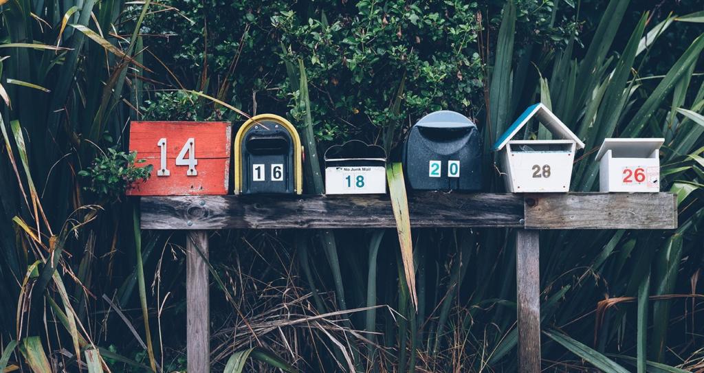 Boites aux lettres message